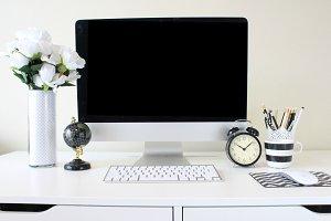Desktop Computer Mockup Styled Stock