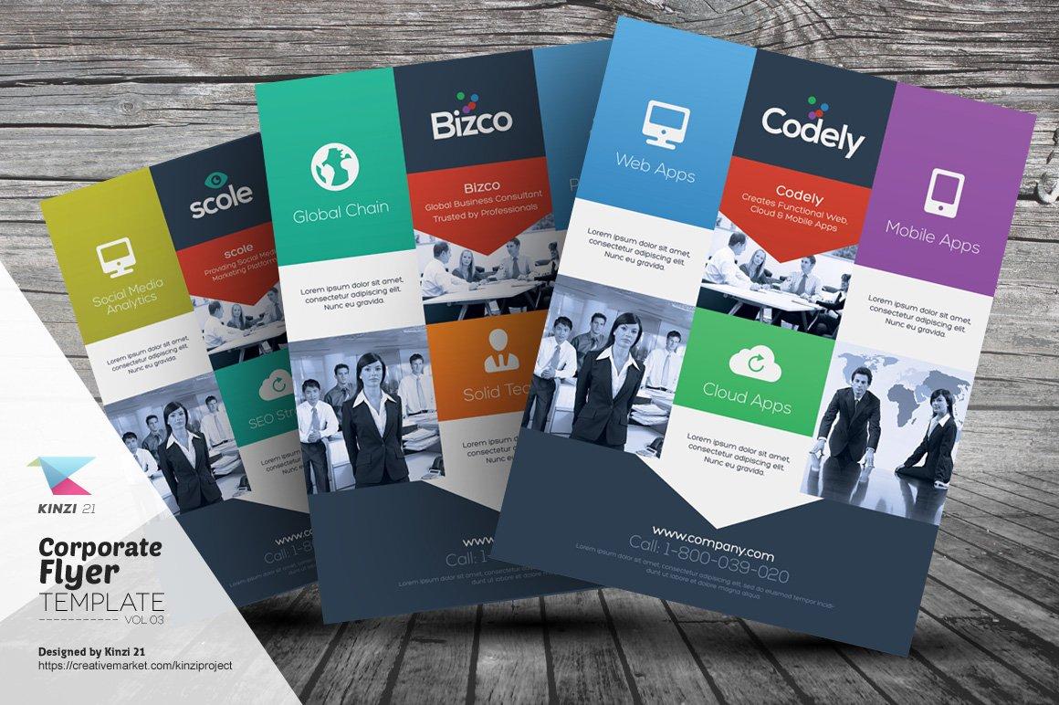 Corporate Flyer Templates Vol03 Flyer Templates Creative Market