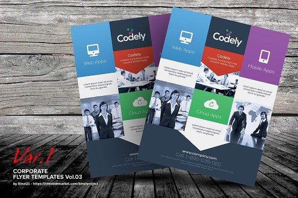 Corporate Flyer Templates Vol03 Flyer Templates Creative Market
