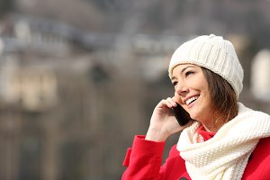 Girl talking on the phone in winter.jpg