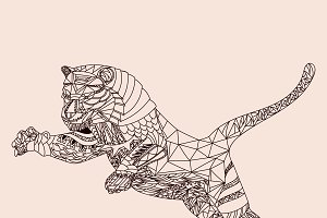 Patterned tiger