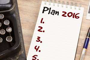 Notebook with annual plan