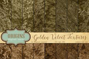 Gold Velvet Digital Paper Textures