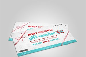 Christmas Gift Voucher template-V01