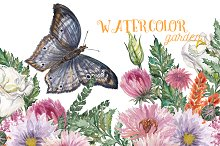 Watercolor garden collection