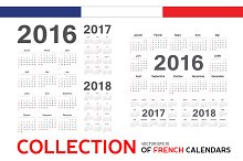 Collection of french calendars