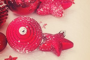 red new years decorations