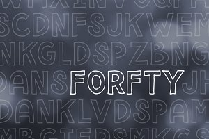 Forfty Mini Font