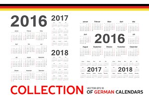 Collection of Germany calendars