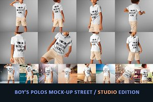 Boy's Polos Mock-up Street / studio