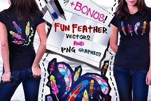 Colored feathers + MEGA BONUS!