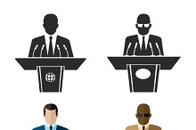 Speaker or orator icon