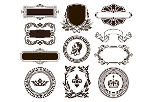 Vintage Frames Vector Set