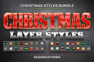 Christmas Layer Styles Bundle