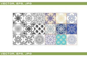 Vector seamless patchwork background