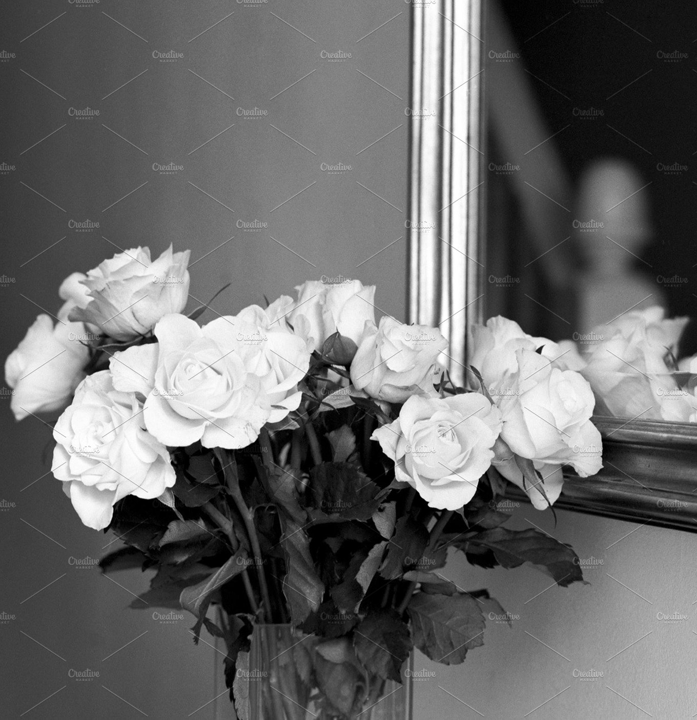 Floral Stock Photo Black And White Beauty Fashion Photos