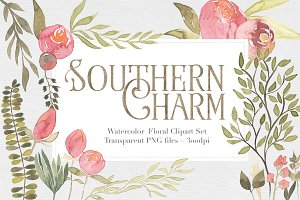 Southern Charm Floral Clipart Set