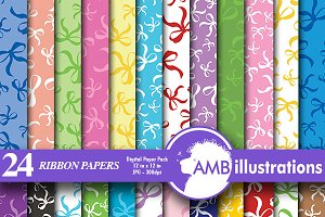 Digital Papers,Ribbons Paper AMB-558