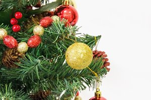 Xmas tree over a white background
