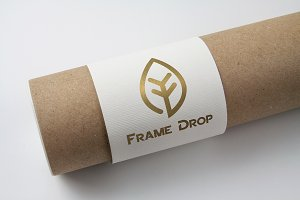 Frame Drop Logo Template