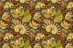 "Seamless pattern ""Golden summer"""