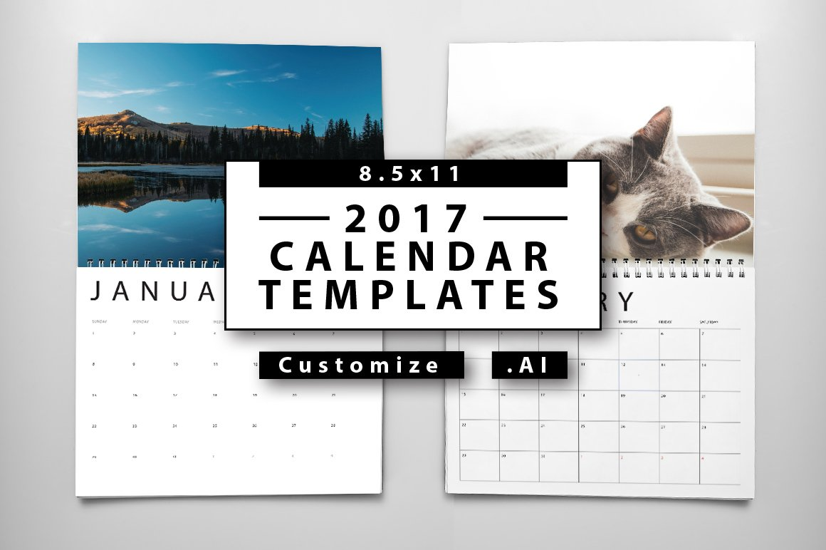 2017 Calendar Templates ~ Templates ~ Creative Market