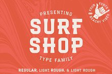 Surf Shop | Coastal Font Family by  in Fonts