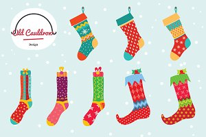 Christmas stockings clipart CL003
