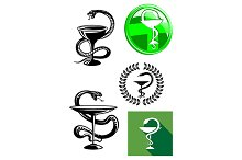 Medicine and pharmacy icons