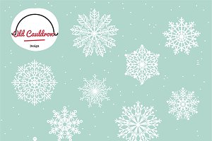 Snowflakes vector clipart pack CL005