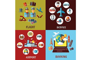 Aviation, airport and travel concept