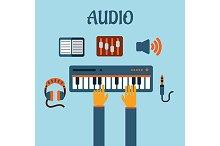 Sound recording flat concept