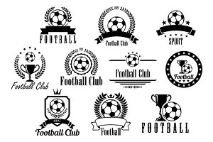 Football or soccer black and white e