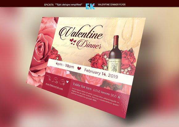 Valentine Dinner Flyer Template Flyer Templates on Creative Market – Dinner Flyer