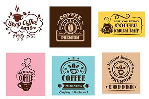Creative coffee label graphic design