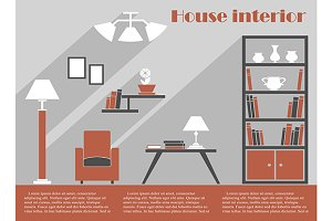 House interior design infographic te