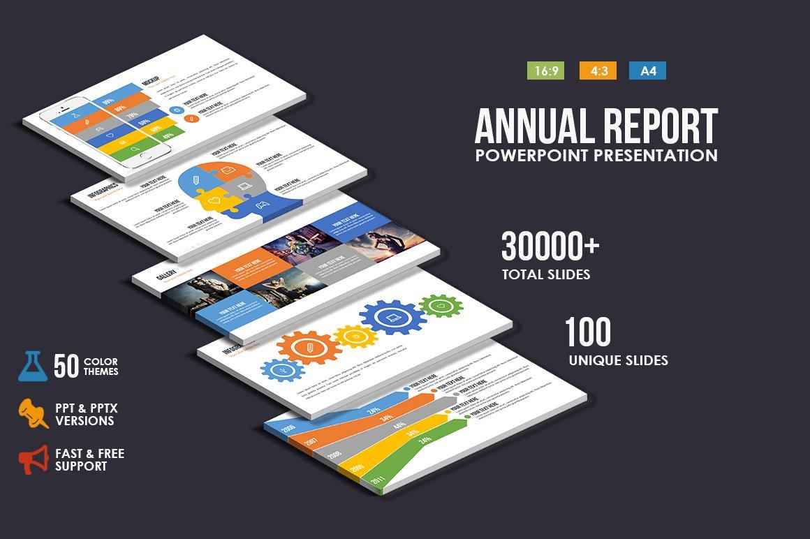 annualreport powerpoint presentation presentation templates