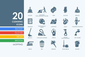 20 cleaning icons