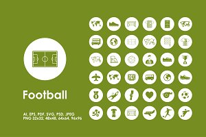Football simple icons