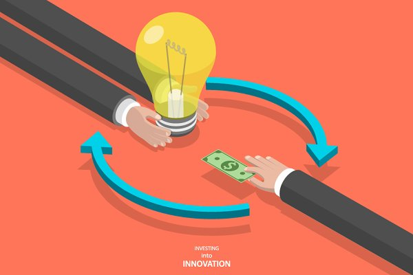 Investing into innovation concept