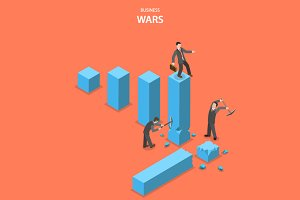 Business wars concept