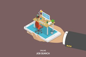 Online job searching concept