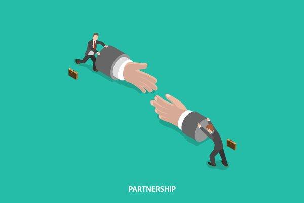 Partnership isometric concept