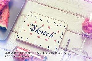 A5 Sketchbook Photo Mockup