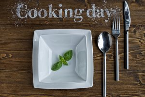 cooking concept with tableware