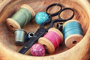 Retro sewing tools