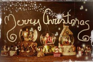 Old Christmas card, Merry Christmas