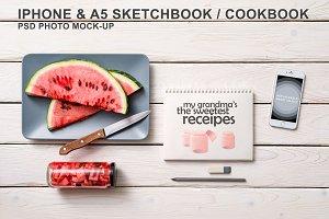 Iphone & Sketchbook Mockup