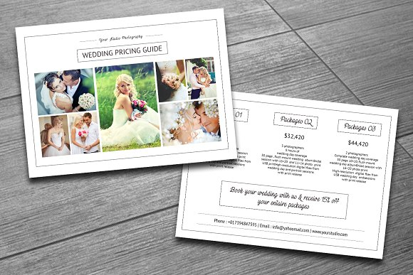 Wedding Photography Packages Template: Wedding Photography Price List-V159