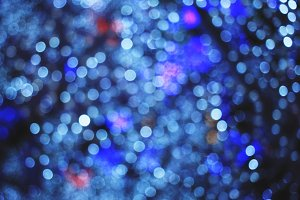 Blurred bokeh of christmas lights